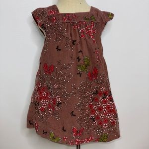 Baby Gap butterfly floral cord jumper dress
